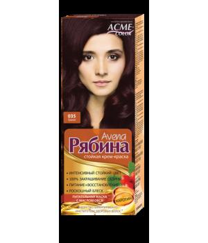Крем-краска для волос Рябина Avena №035 Гранат Экми-Колор