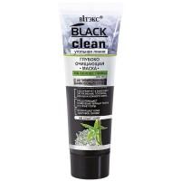 <Biтэкс> BLACK CLEAN Глубоко очищающая МАСКА для лица на основе глины 75мл