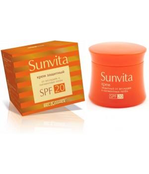 <Belkosmex> Sunvita Крем защитный от веснушек и пигментных пятен SPF 20