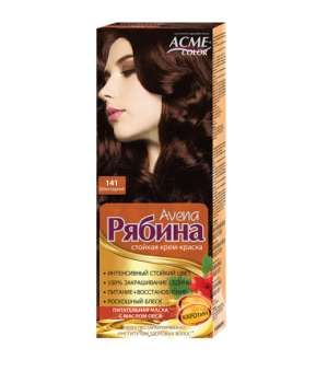 Крем-краска для волос Рябина Avena №141 Шоколадный Экми-Колор