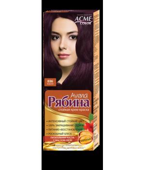 Крем-краска для волос Рябина Avena №036 Божоле Экми-Колор