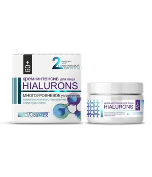 <Belkosmex> Hialurons 60+ Крем-интенсив для лица многоуровн увлажн комл восст структ кожи 48мл