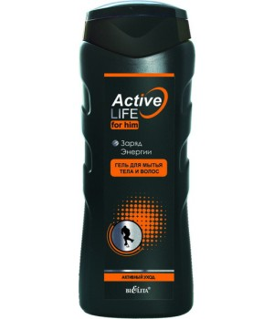<Bielita> ACTIVE LIFE (для мужчин) Гель для тела и волос Заряд энергии 250