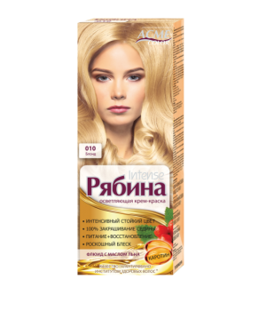Крем-краска для волос Рябина Intensе №010 Блонд