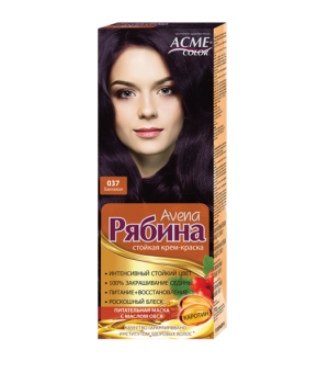 Крем-краска для волос Рябина Avena №037 Баклажан Экми-Колор