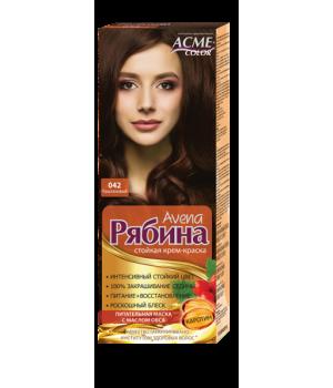 Крем-краска для волос Рябина Avena №042 Каштановый Экми-Колор