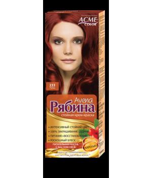 Крем-краска для волос Рябина Avena №233 Рубин Экми-Колор
