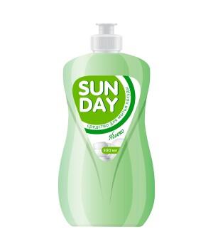 <СОНЦА> Средство для мытья посуды &quot;Sunday Яблоко&quot; 500мл/8