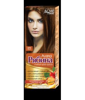 Крем-краска для волос Рябина Avena №470 Мокко Экми-Колор