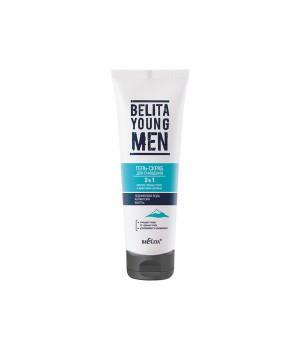 <Bielita> BELITA YOUNG MEN Гель-скраб д/очищения 2в1 против чёрных точек и врастания щетины туба 100