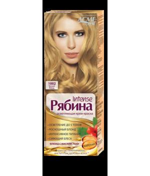 Крем-краска для волос Рябина Intensе №1002 Теплый Блонд