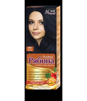 Крем-краска для волос Рябина Avena №052 Иссиня-черный Экми-Колор