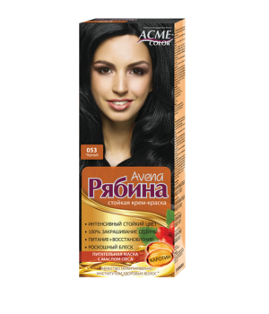 Крем-краска для волос Рябина Avena №053 Черный Экми-Колор
