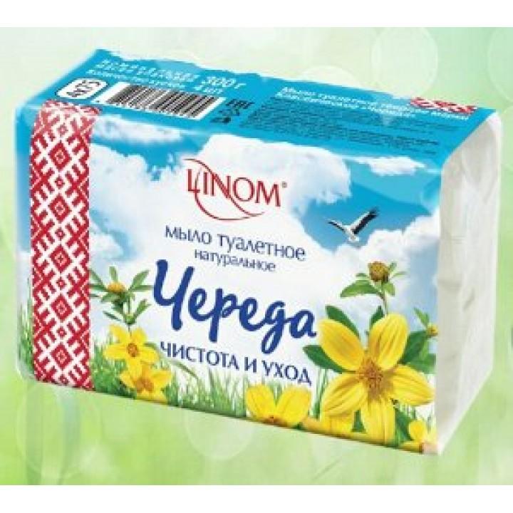 <Лином> Мыло твердое туалетное марки Классическое Череда (Экономпак) 300г