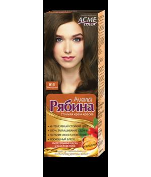 Крем-краска для волос Рябина Avena №015 Темно-русый Экми-Колор