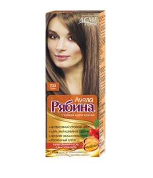 Крем-краска для волос Рябина Avena №723 Графит Экми-Колор