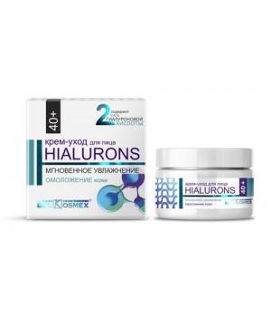 <Belkosmex> Hialurons 40+ Крем-уход мгновенное увлажнение омоложение кожи 48мл