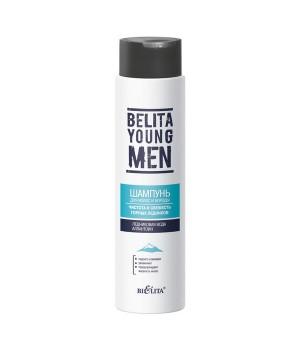 <Bielita> BELITA YOUNG MEN Шампунь для волос и бороды Чистота и свежесть горных ледников 400мл