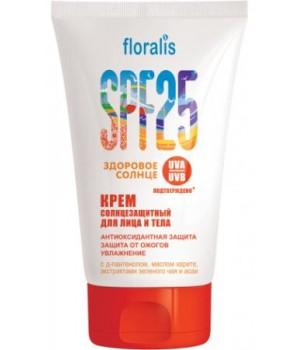 <Floralis> &quot;Здоровое солнце&quot; Крем солнцезащитный д/лица и тела SPF 25 100/15