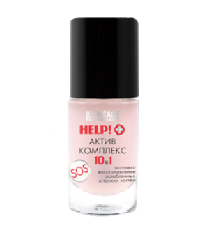 <LUX visage> Средство для ногтей &quot;HELP! +&quot; Актив комплекс 10 в 1 8.3г/6