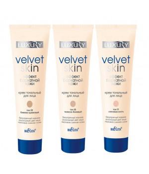 <Biтэкс> Крем тональный д/лица Velvet Skin &quot;невидимый&quot; макияж тон 02 телесно-бежевый 30мл