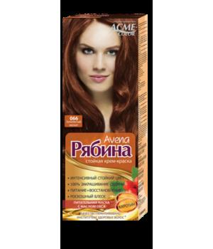 Крем-краска для волос Рябина Avena №066 Золотистый мускат Экми-Колор