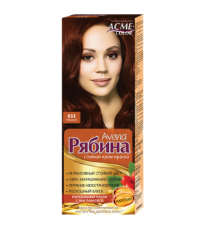 Крем-краска для волос Рябина Avena №033 Махагон Экми-Колор