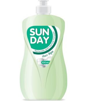 <СОНЦА> Sunday Бальзам для мытья посуды &quot;Алоэ Вера&quot; 500мл/8