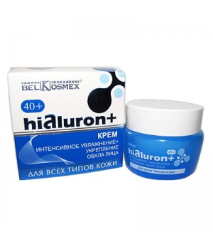 <Belkosmex> Hialuron+ Крем ИНТЕНС.УВЛАЖНЕНИЕ+УКРЕПЛ.ОВАЛА ЛИЦА д/всех типов кожи 48гр