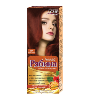 Крем-краска для волос Рябина Avena №034 Дикая вишня Экми-Колор